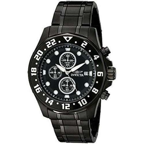 15945 Men's Specialty Quartz Multifunction Black Dial Watch