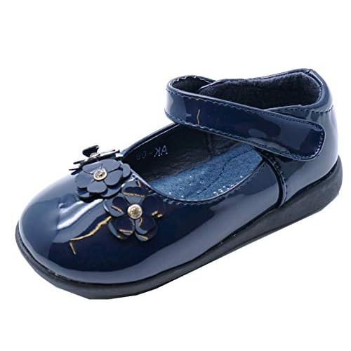 c2f06f595 Girls Navy Patent Velcro Flat Shoes Cute Pumps | Konga Online Shopping