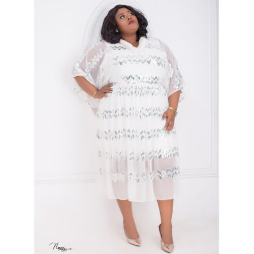 Eunice Plus Size Dress - White