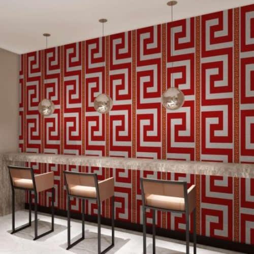 Versace Greek Key Design In Red White Konga Online Shopping