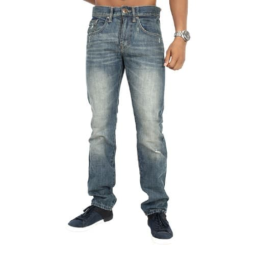 1c9a9545411 Fashion Bug Ripped Dirty Jeans - Blue