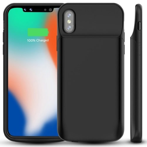 reputable site a7604 511a4 Power Backup Case for Apple iPhone X - Black