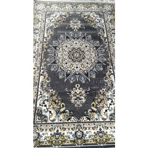 Arabian Grey Floral Oriental Center Rug - 5x7ft