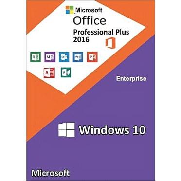 Windows 10 Enterprise + Office 2016 Professional Plus Cd Keys Activation  Pack