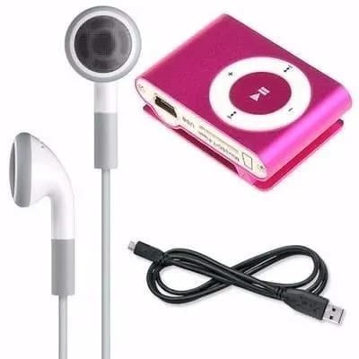 Mini Mp3 Player - Pink + 8gb Chupez Memory Card