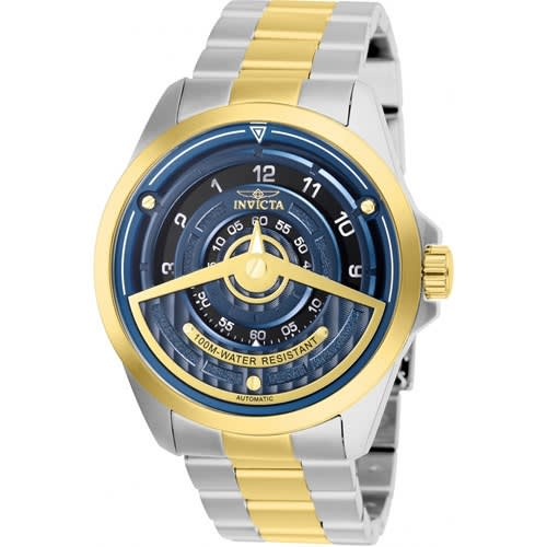 25957 Men's S1 Rally Automatic 2 Hand Blue Dial Watch