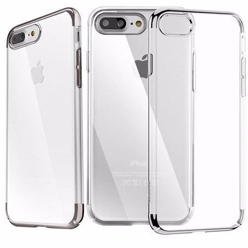 new style 88731 b6781 IPhone 8 Plus Transparent Case And 3D Glass Protector