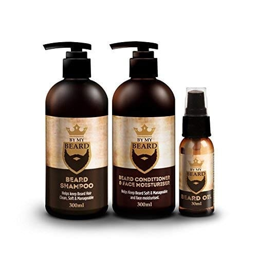 Beard Shampoo/conditioner And Face Moisturiser Oil Complete Triple Pack