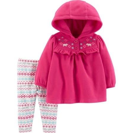 d32b40d47417 Baby Girl Extra Soft Hooded Jacket And Matching Pant 2 Set- Pink ...