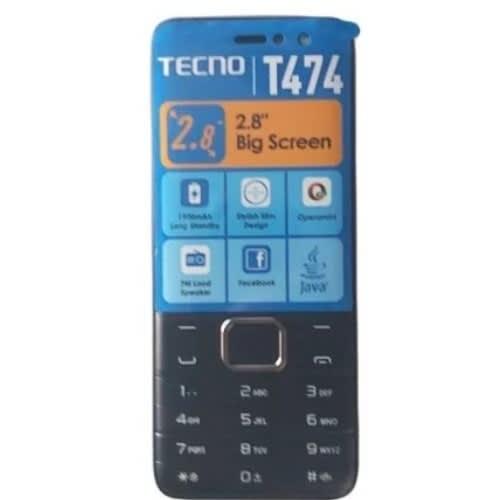 T474 - 2.8 Inch, Dual Sim, Radio, Opera Mini, Battery 1900mah - Black.