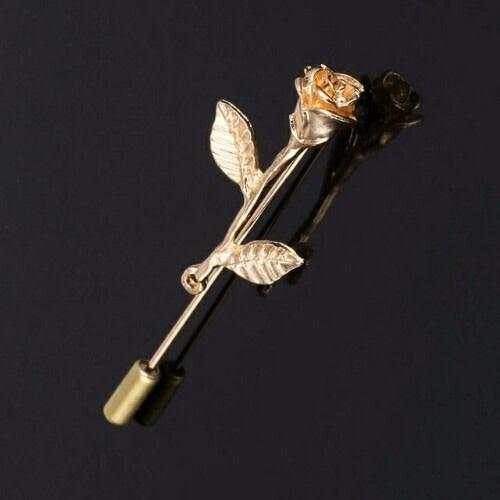 Flower Lapel Pin & Brooch - Gold