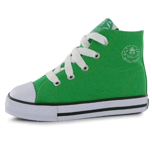 52dcdfe443bfc Dunlop Infant Canvas High Top Trainers - Green | Konga Online Shopping