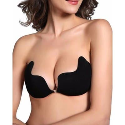 3fc42abf03661 Invisible Adhesive Backless Push up Bra - Black