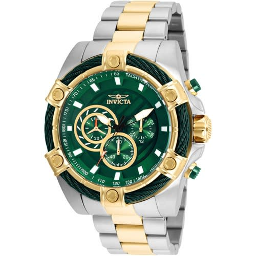 25519 Men's Bolt Quartz Chronograph Green Dial Xl Watch