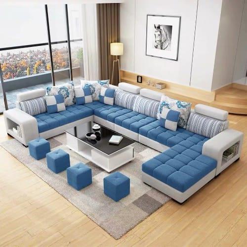 Living Room Furniture Anta Modular Sofa Set + Centre Table