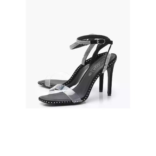 cb0995facd Boohoo Clear And Diamante Strap Barely There Heels | Konga Online ...