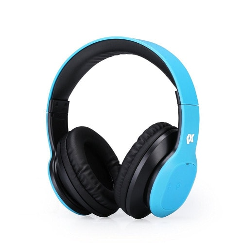 Wireless Over Ear Headphones With Micophone - Blue