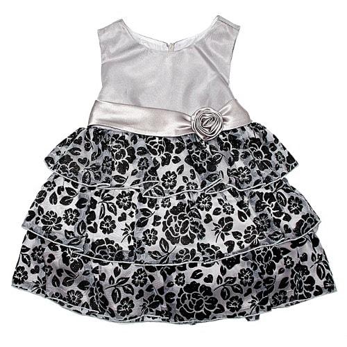 9c052ff8 Love Baby Girl Flower Tier Glitter Dress- Platinum Silver | Konga ...