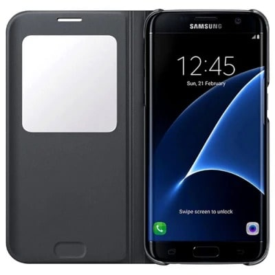 huge discount c36c4 87725 S-view Flip Cover For Galaxy S7 Edge Case