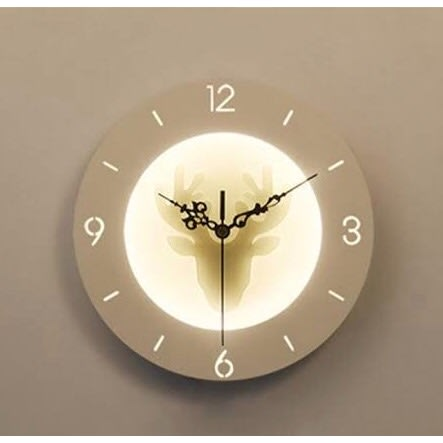 Wall Clock Lamp.