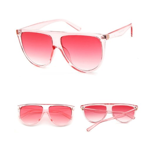 d71949b5a5dd Oversized Square Flat Top Sunglasses- Pink | Konga Online Shopping
