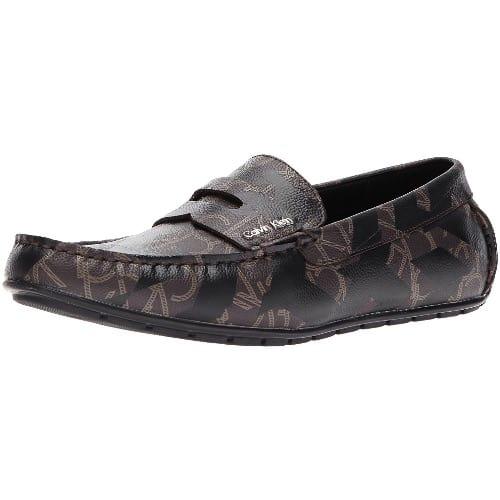 Men'S Ivan Iconogram Slip On Loafer Brown Calvin Klein Ivan Loafer Shoes