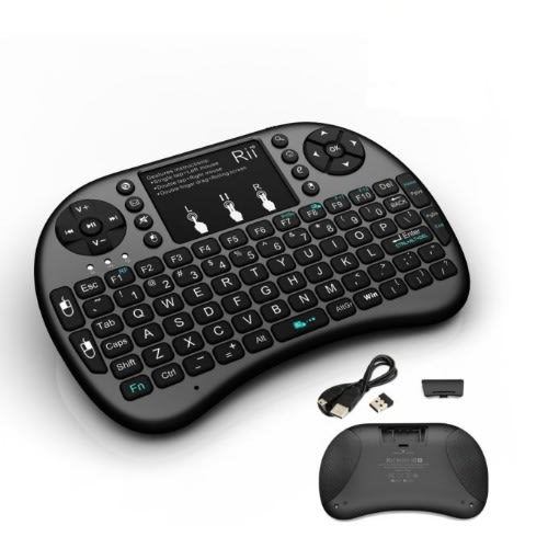 Wireless Mini Keyboard Mouse Touchpad with Backlight For PC