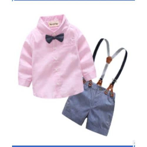 2d0731250bb1 Fashion By LV Boys' Stripped Shirt Set - Suspender & Bow Tie   Konga ...