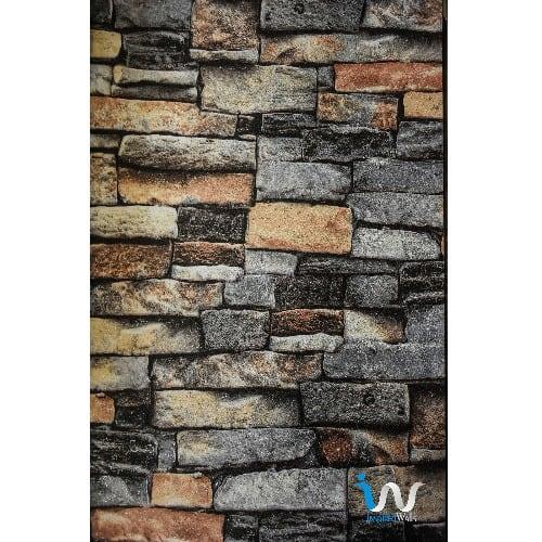 Mix Colour Ii 3d Bricks Wallpaper