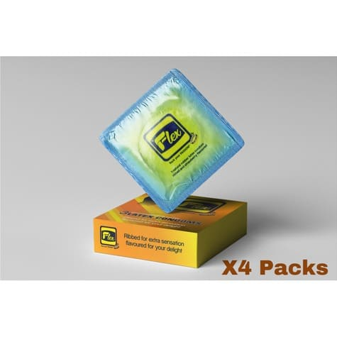 Classic Strawberry Flavoured Condom - 4 Packs Of 12 Pieces.