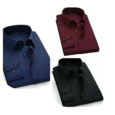 Men's Shirts - 3 In 1 - Navy Blue, Wine & Black