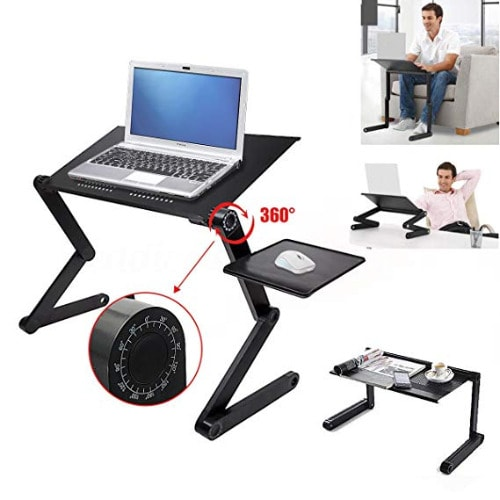 T9 Multi Functional Adjustable Laptop Table With Mouse Pad & Cooler.