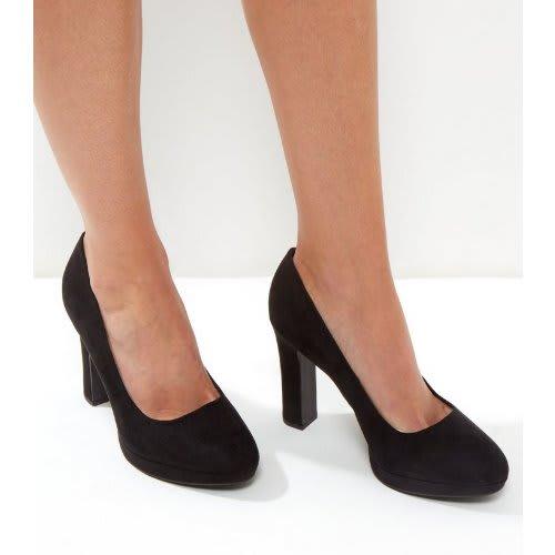 52550b298f New Look Wide Fit Suedette Platform Court Shoes - Black | Konga ...