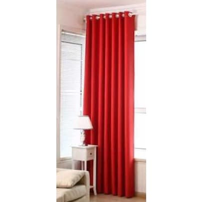 Luxury Curtains - Red