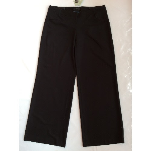 Adjustable Side Jersey Black Maternity Trousers