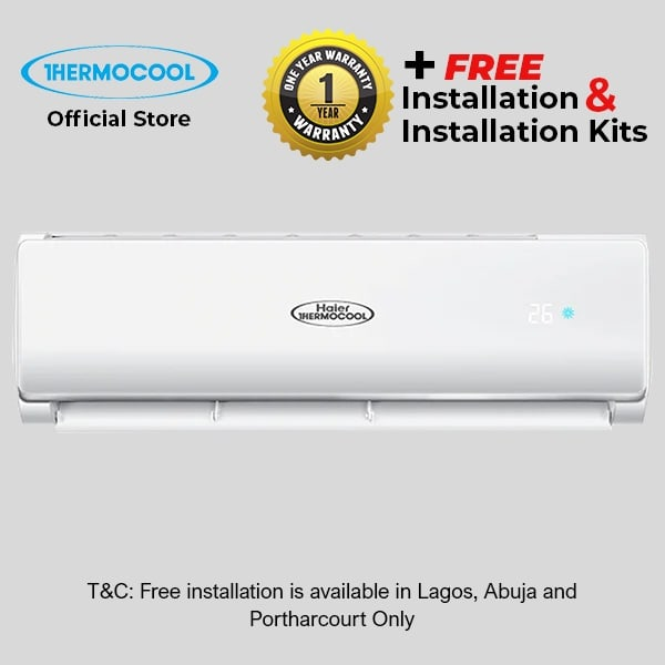 Split Air Conditioner Cool 1 5HP 12tesn-01 White + Free Installation Kits