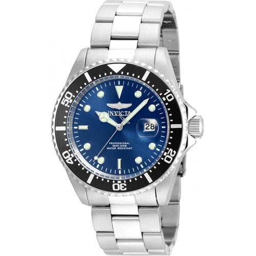 22054 Men's Pro Diver Quartz 3 Hand Blue Dial Watch