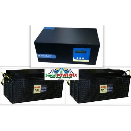 2.5kva Sinergy Inverter With 2 Index Rugged Batteries