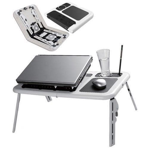 Marvelous E Table Lap Desk Foldable Laptop Table With Usb Cooling Pad Interior Design Ideas Truasarkarijobsexamcom