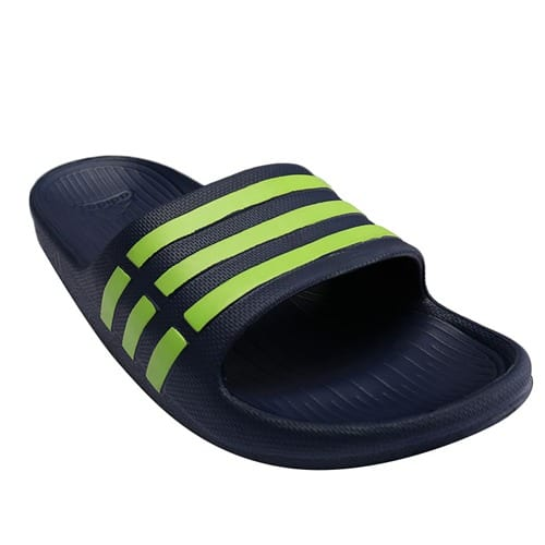 3730720dc adidas Duramo Solar Soft Slide In Blue and Green