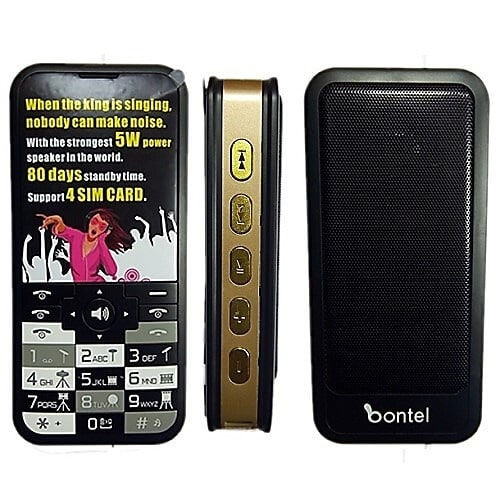 "bontel Music King - 2.8"" - 15000mAh Battery - 4 Sim Card - Black 