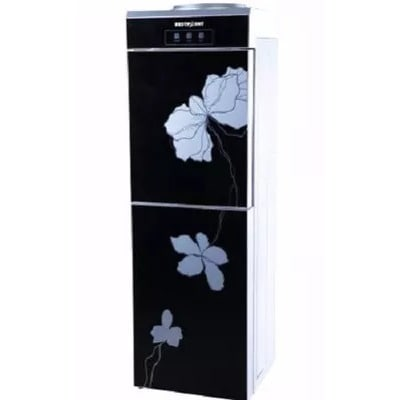 Water Dispenser With Fridge - Black