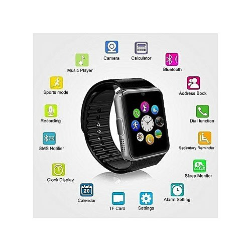 7a5eaa52d GT08 Smartwatch With Bluetooth   Sim .