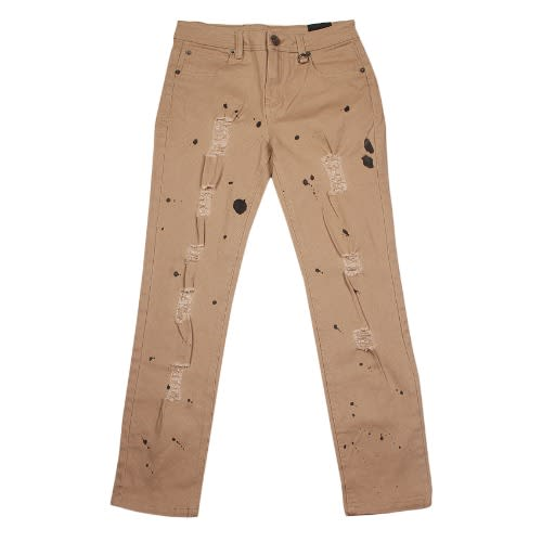 1503e6214d4e Ripped Inked Jeans- Khaki Brown | Konga Online Shopping