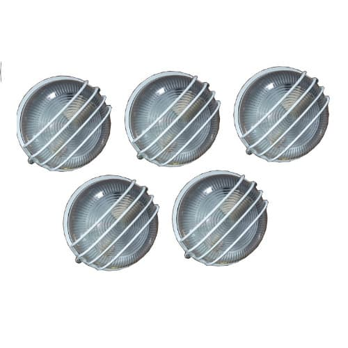 5 Pieces Round Outdoor Wall Lamp & Fence Light