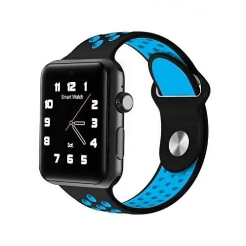M3 Bluetooth Smart Watch - Black And Blue Plus Free 16gb Memory Card