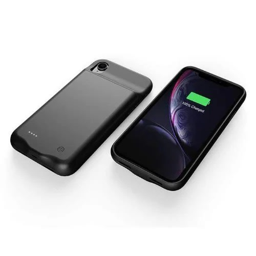 iPhone XR 2018 Battery Case - 6000mah Rechargeable External Backup Charger  Pack