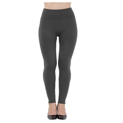 2abbc88de1e7a1 High Waist Fleece Lined Seamless Ankle Leggings - Grey | Konga ...