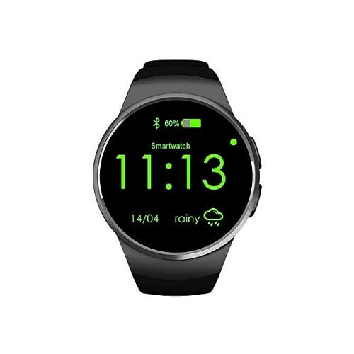 Kw18 Bluetooth Smart Watch With Heart Rate Monitor & Sim Card Slot