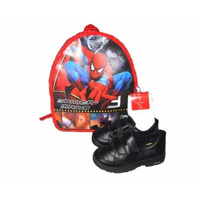 Walkaroo Boys Double Velcro School Shoe